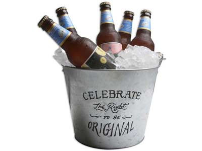 Custom Beer Buckets _ Plastic and Galvanized Metal