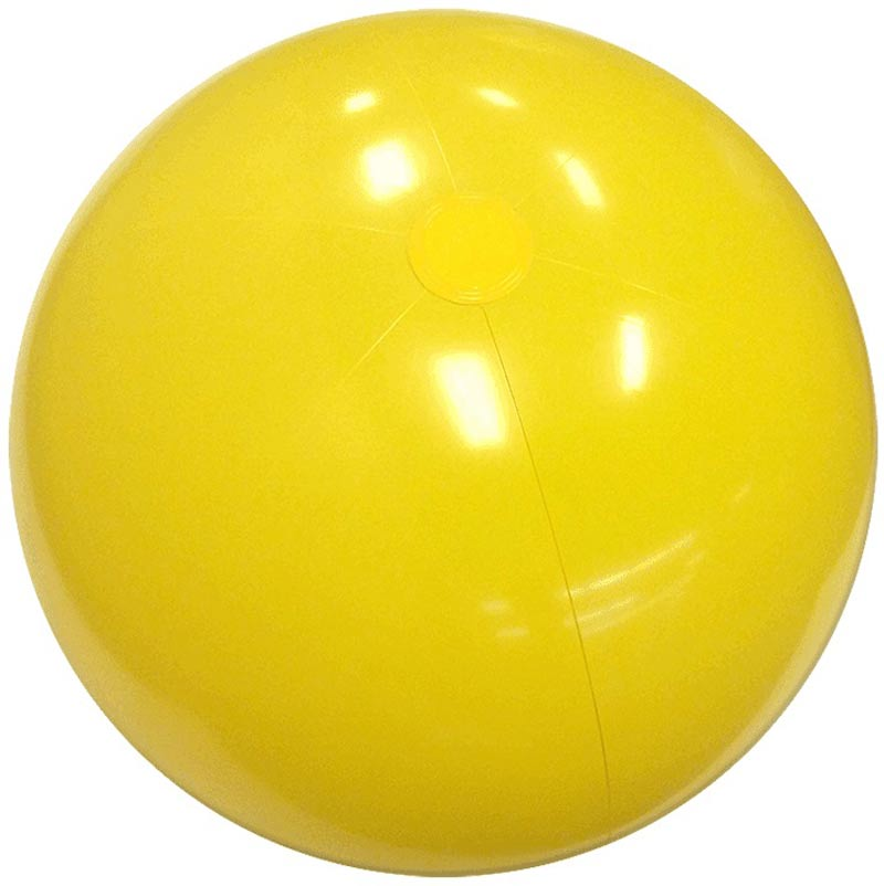 "6"" Solid Yellow Beach Ball"