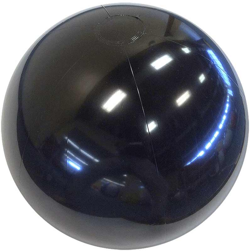 "6"" Solid Black Beach Ball"