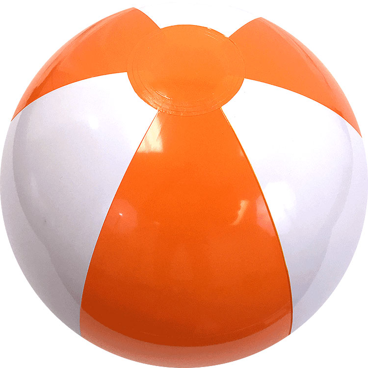 "9"" Beach Ball (Orange/White)"