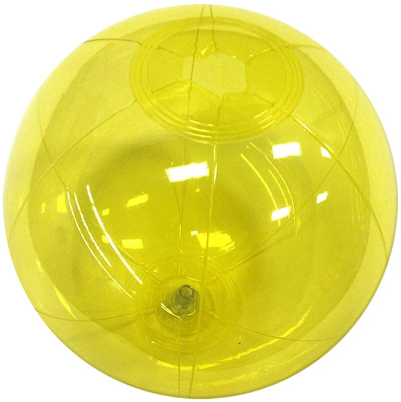 "6"" Translucent Yellow Beach Ball"