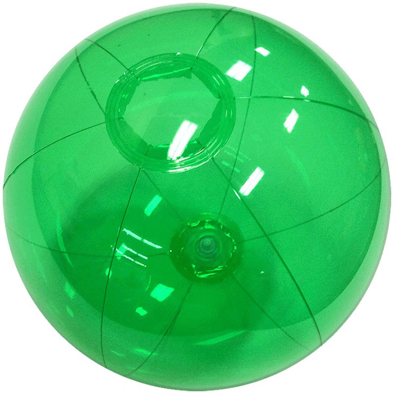 "6"" Translucent Green Beach Ball"