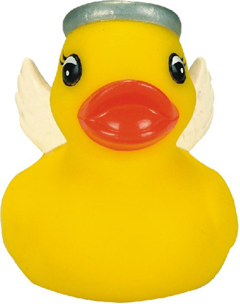 Mini Rubber Angel Duck Squeaking Toy