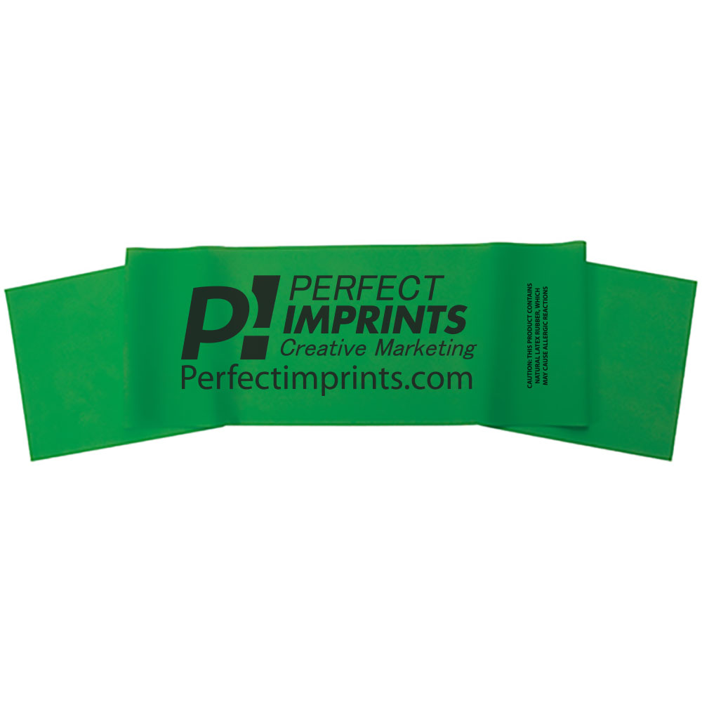 "Body Sport Exercise Bands 4 Ft x 5"" Wide, Green, Heavy Resistance"