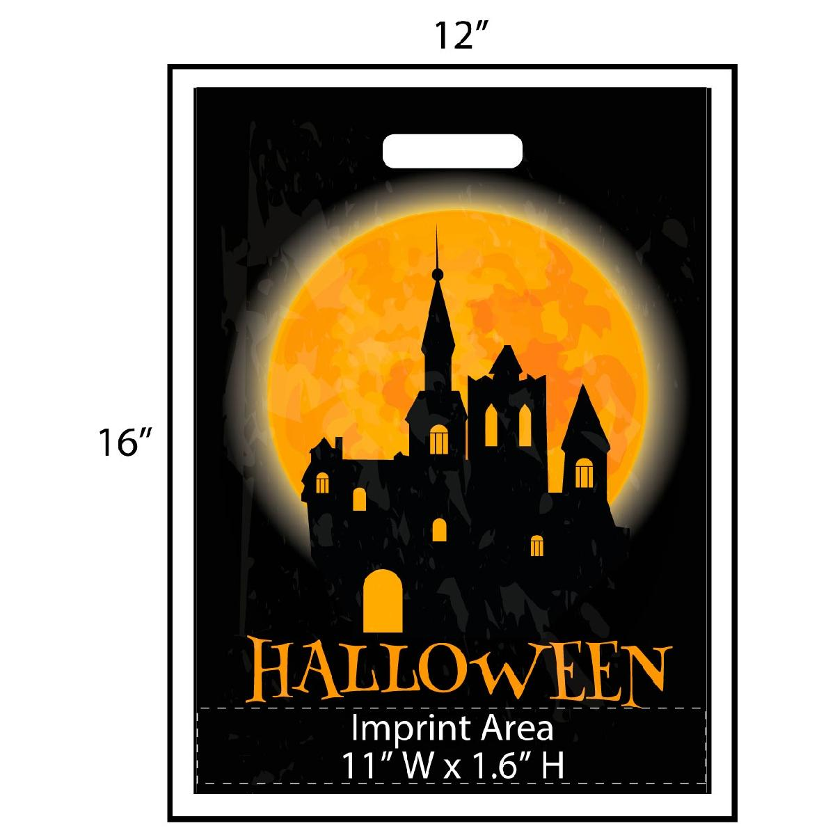 Full Moon Haunted House Trick or Treat Bag - Exclusive Design