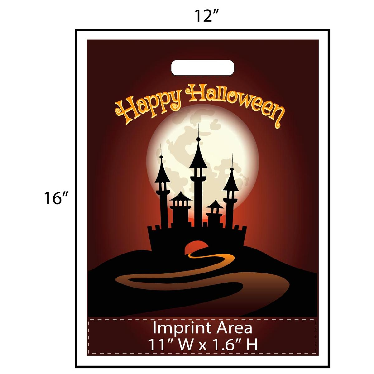 Happy Halloween Haunted House Trick or Treat Bag - Exclusive Design