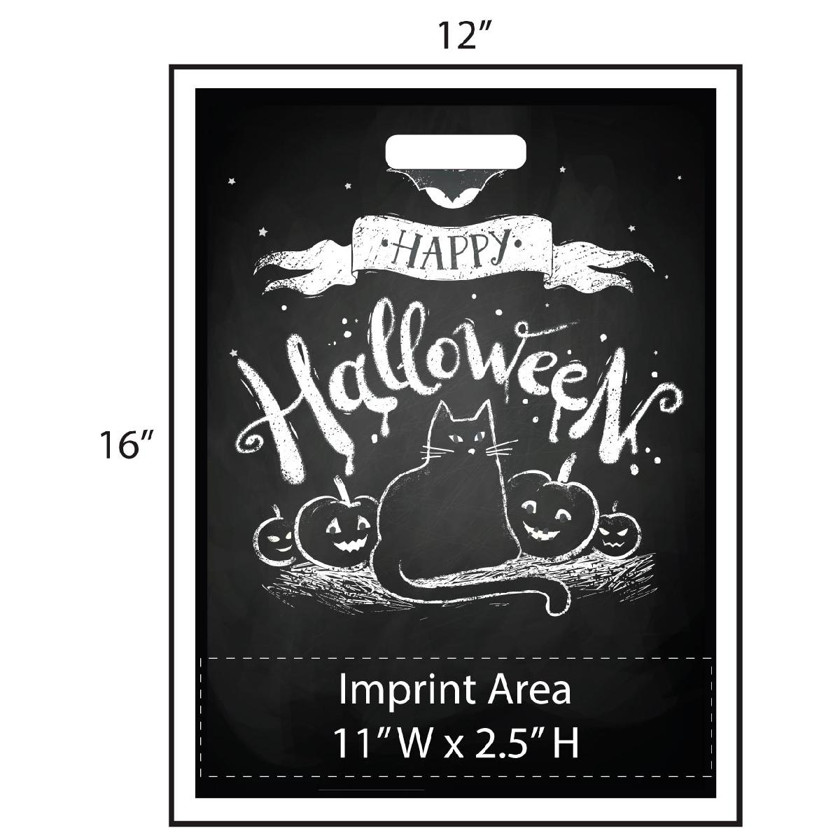 Retro Chalkboard Trick or Treat Bag - Exclusive Design