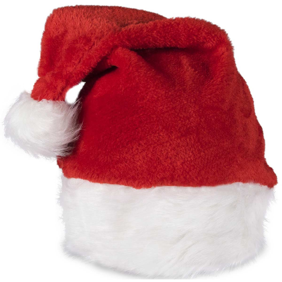 Embroidered Red Deluxe Plush Santa Hats