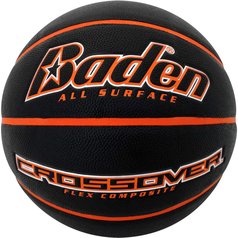 Black/Orange  Intermediate Women's Size Crossover Composite Basketball