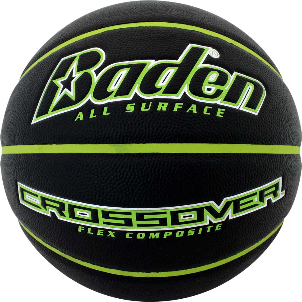 Black/Green Junior Size Crossover Composite Basketball