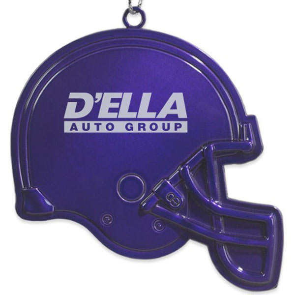Football Helmet Pewter Ornament