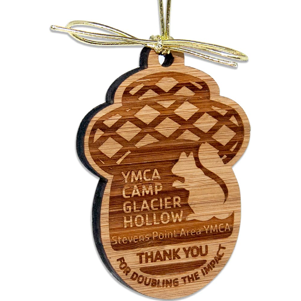 Custom Shape Laser Etched Bamboo Ornaments - Up to 6 Sq Inches
