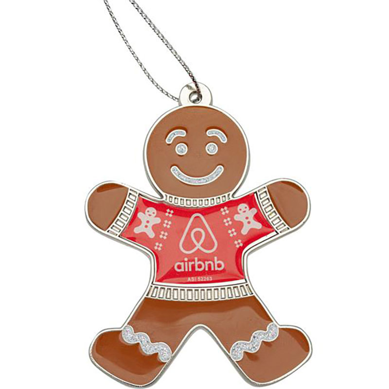Gingerbread Man with Ugly Sweater Custom Ornaments