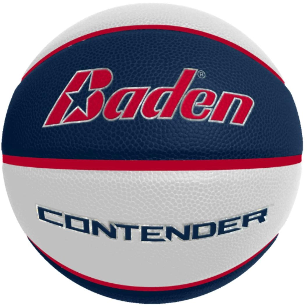 Laser Engraved - Navy/White Men's Official Size Contender Performance Composite Basketball