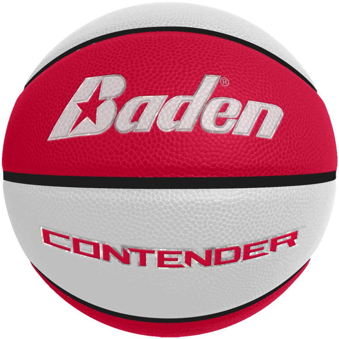 Laser Engraved - Red/White Men's Official Size Contender Performance Composite Basketball