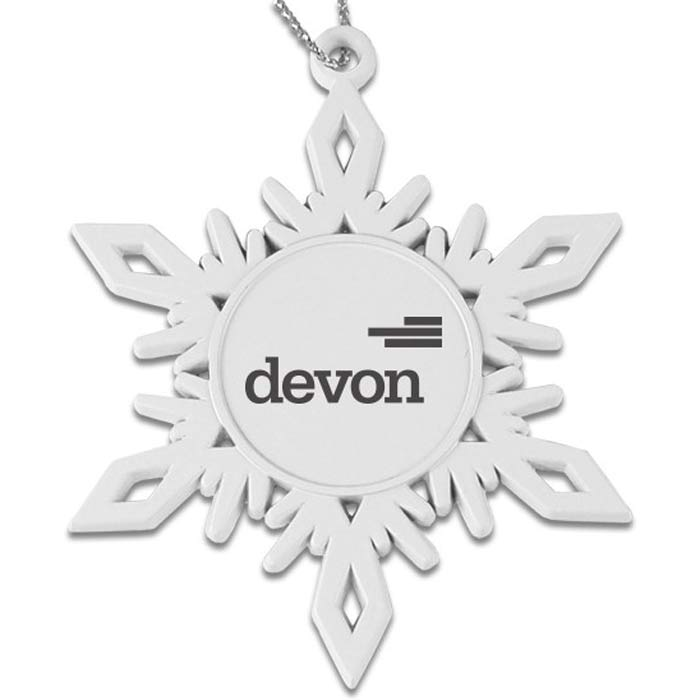 White Finish Snowflake Ornament