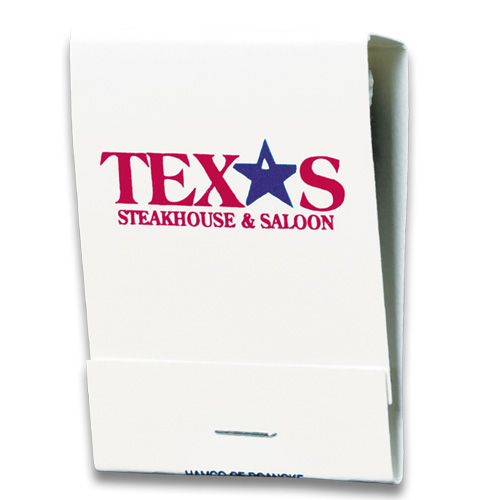 20 Stem Matchbooks Red/Blue Logo on White
