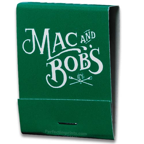 20 Stem Matchbooks White Logo on Green