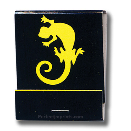 20 Stem Matchbooks Yellow Logo on Black