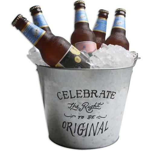 5 Qt. Galvanized Metal Beer Bucket