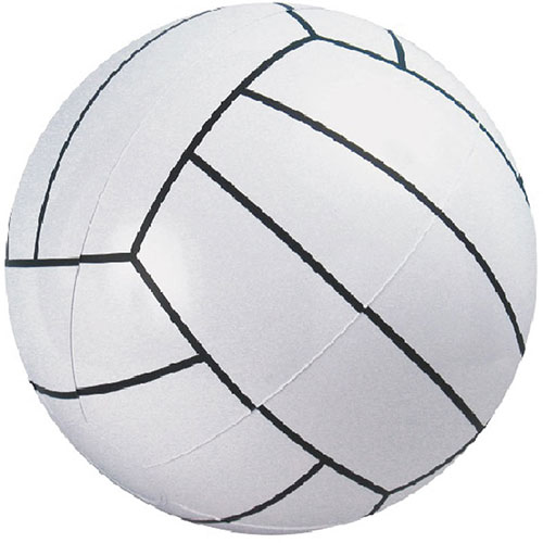 "14"" Volleyball Beach Ball - 14"" Measured Deflated, Inflatable Beach Ball, Phthalate Free PVC Material"