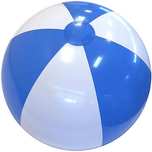 "12"" Alternating Light Blue and White Beach Ball - Custom 12"" Alternating Light Blue and White Beach Balls"