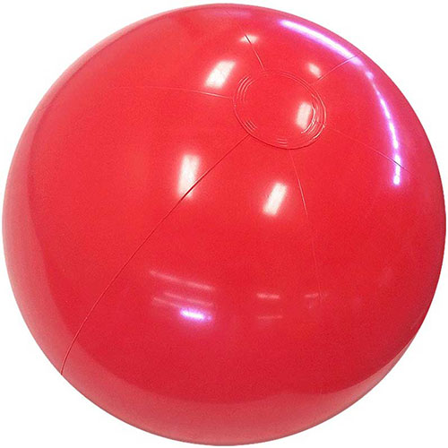 "6"" Solid Red Beach Ball - Custom 6"" Solid Red Beach Balls"
