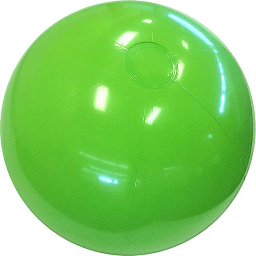 "12"" Solid Lime Green Beach Ball - Custom 12"" Solid Lime Green Beach Balls"