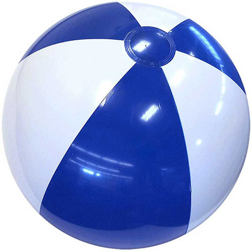 "12"" Alternating Blue and White Beach Ball - Custom 12"" Alternating Blue and White Beach Balls"