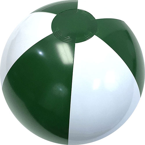 "12"" Alternating Forest Green/White Beach Ball - Custom 12"" Alternating Forest Green/White Beach Balls"