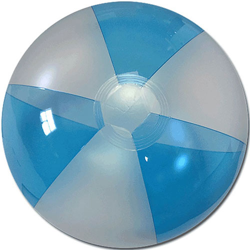 "12"" Translucent Blue/Clear Beach Ball - Custom 12"" Translucent Blue/Clear Beach Balls"