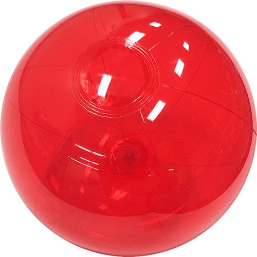 "12"" Translucent Red Beach Ball - Custom 12"" Translucent Red Beach Balls"