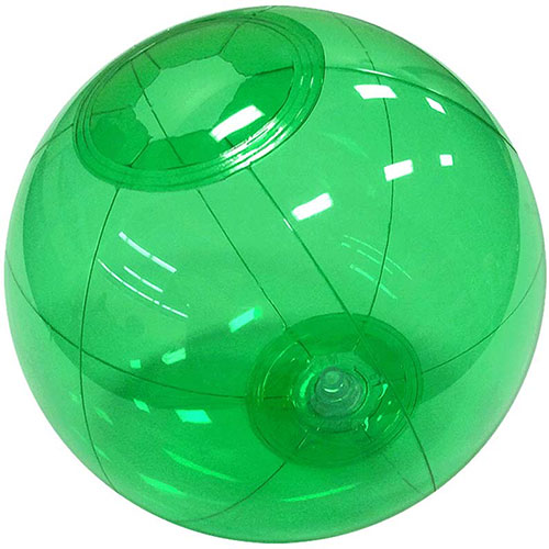 "12"" Translucent Green Beach Ball - Custom 12"" Translucent Green Beach Balls"