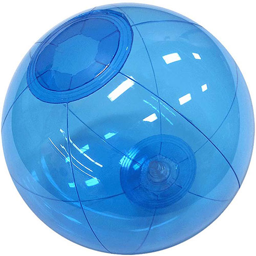 "12"" Translucent Blue Beach Ball - Custom 12"" Translucent Blue Beach Balls"