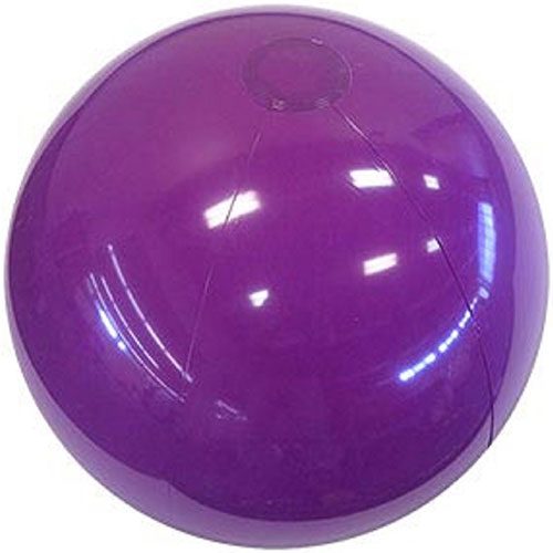 "12"" Opaque Purple Beach Ball - Custom 12"" Opaque Purple Beach Balls"