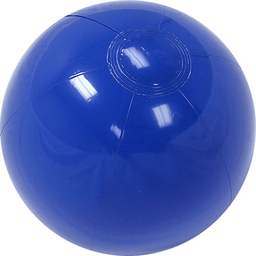 "12"" Opaque Blue Beach Ball - Custom 12"" Opaque Blue Beach Balls"