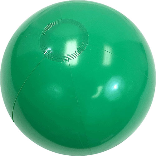 "12"" Opaque Green Beach Ball - Custom 12"" Opaque Green Beach Balls"
