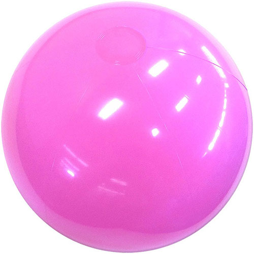 "12"" Opaque Pink Beach Ball - Custom 12"" Opaque Pink Beach Balls"