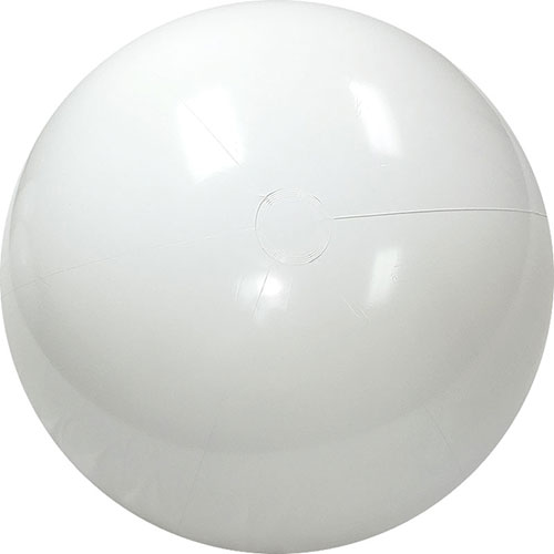 "12"" Opaque White Beach Ball - Custom 12"" Opaque White Beach Balls"