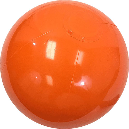"12"" Opaque Orange Beach Ball - Custom 12"" Opaque Orange Beach Balls"