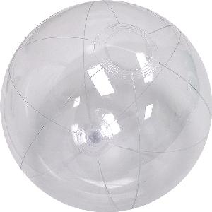 12 Inch Clear Beach Ball - 12 inch Measured Deflated, Inflatable Clear Beach Ball, Phthalate Free PVC Material Beach Balls