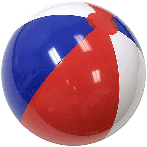 "12"" Beach Ball (Red/White/Blue) - Custom 12"" Beach Balls (Red/White/Blue)"