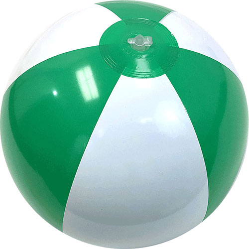 "12"" Alternating Green/White Beach Ball - Custom 12"" Alternating Green/White Beach Balls"