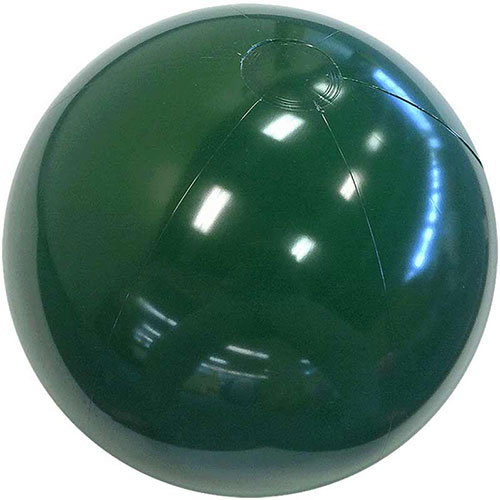 "12"" Forest Green Beach Ball - Custom 12"" Forest Green Beach Balls"
