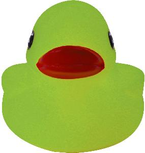 Glow in The Dark Rubber Duck Toy - All of our rubber toys are phthalate free and balanced for floating.