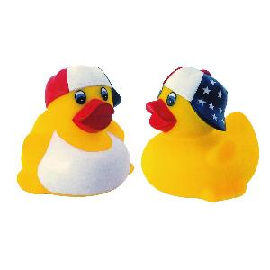 Patriotic Rubber Duck Toy - All of our rubber toys are phthalate free and balanced for floating.
