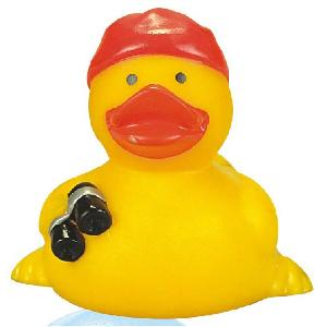 Rubber Pirate Look-Out Duck Toy - All of our rubber toys are phthalate free and balanced for floating.