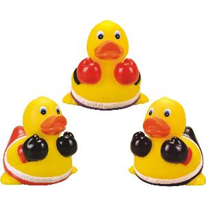 Rubber Boxer Duck Toy - All of our rubber toys are phthalate free and balanced for floating.