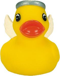 Mini Rubber Angel Duck Squeaking Toy - All of our rubber toys are phthalate free and balanced for floating.