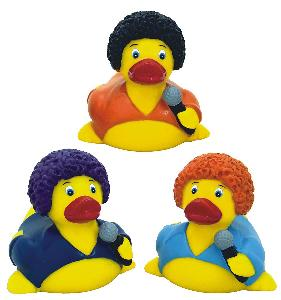 Rubber Disco Fever Duck Toy - All of our rubber toys are phthalate free and balanced for floating.